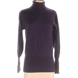 Bogner Purple Wool Turtleneck